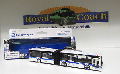 """MTA New York City Articulated 6-1/8"""" Plastic Bus - 1:87 Scale"""