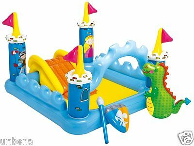 """Intex Fantasy Castle Inflatable Play Center 73"""" X 60"""" X 42"""" inch 57138EP Kids 2+"""
