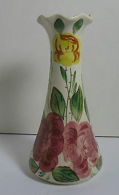 "Blue Ridge 9"" Vase CAROL'S ROSES Southern Potteries"