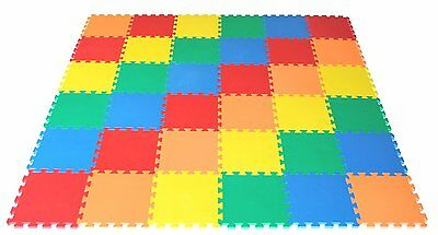 Kids Interlocking Eva Flooring Activity Play Soft Foam Mat Set Tiles Children