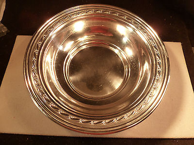 "Large Antique Randahl Craftsmen 9"" Sterling Silver Serving Bowl B68 Illinois"