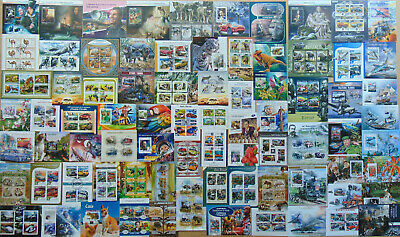 250 all different beautiful MINI & SOUVENIR SHEETS Composition Lot VERY NEW !