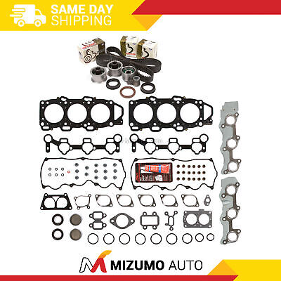 Head Gasket Set Timing Belt Kit Fit 88-98 Mazda MPV 929 3.0 SOHC 18V JE