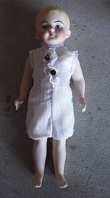 """Vintage 1970s All Bisque Blonde Girl Doll 8 3/4"""" Tall"""