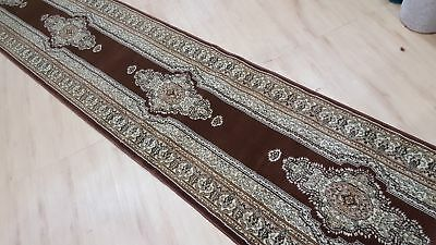 Brown Traditional Turkish-Made Heat-Set Hall Runner (Assorted Lengths)