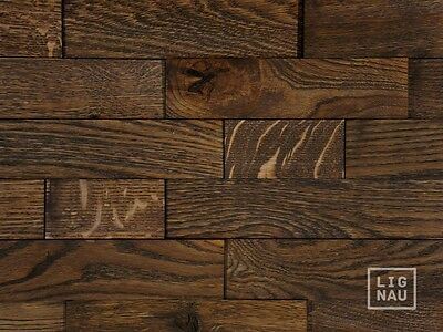 Wall Cladding Wood Paneling 3D Vintage Planed Oak Panel Solid Black Oiled Wooden
