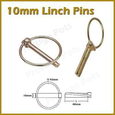 10mm Linch Pins Retaining Pin Fastener Tractor Trailer Plant Horsebox Lorry Axle
