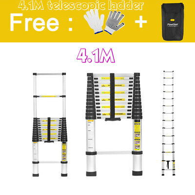 4.1M Multi-Purpose Aluminium Telescopic Ladder Extension Extendable Step+FreeBag