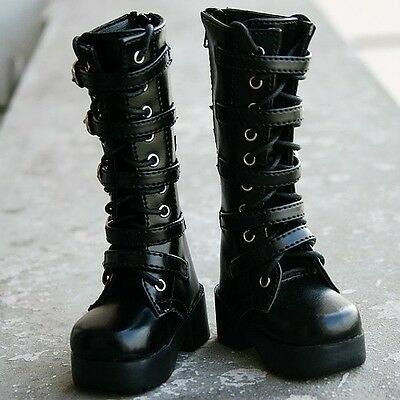 [wamami]1/3 Black Synthetic Leather Boots/Shoes-8.5cm For SD DZ DOD BJD Dollfie