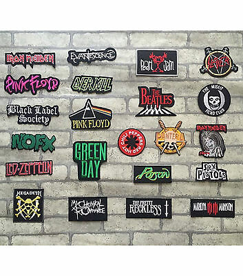 DIY Metal Rock Punk Emo Retro Music Band Embroidered Sew Iron On Patch Badge