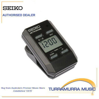 Seiko Full Function DM-51SE Clip On Digital Metronome with Clock DM51