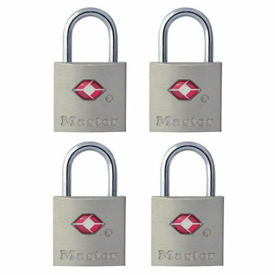 Master Lock 4683Q TSA Accepted Keyed Padlock - 4 Pack