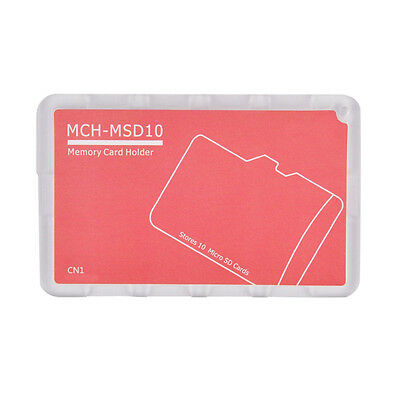 10 Micro SD Holder Memory Card Protective Storage Case Write/Label Rose