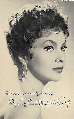 Foto Originale con autografo Gina Lollobrigida real signed photo vintage