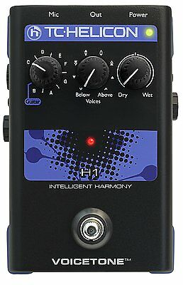 TC-Helicon VoiceTone H1  Intelligent Vocal Harmony Electronic Effects Pedal 2DAY