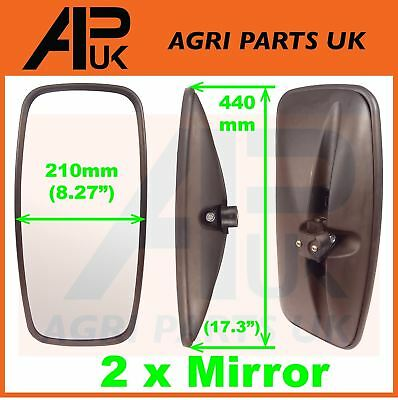 Universal Mirror Head +Glass Pair Tractor Lorry Digger Truck Plant JCB Bus Truck