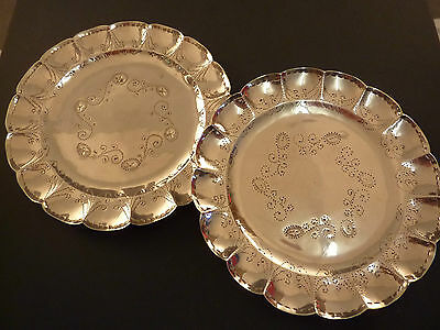 Super Pair Of Mexican Silver Side Plates
