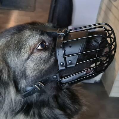New Strong Metal Wire Ruber Covered Basket Dog Muzzle German Shepherd & similar