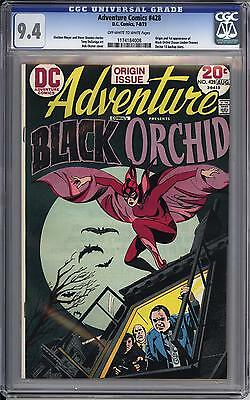 Adventure Comics #428 Cgc 9.4  Ow White Pages   1St Black Orchid
