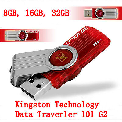 Kingston 8Go/16Go/32Go DataTraveler DT101 G2 Flash stick clé USB Memoria Drive