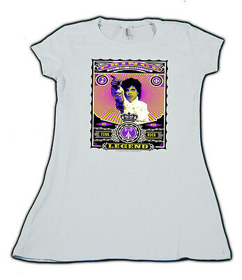 PRINCE new womens T SHIRT 80s new wave rock  ent