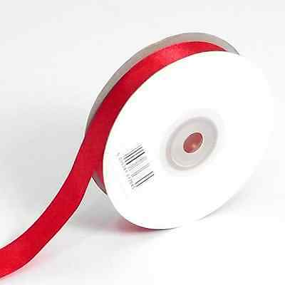 RED DOUBLE FACED SIDED SATIN RIBBON 3mm / 10mm / 16mm Wide & 25m / 50m Long