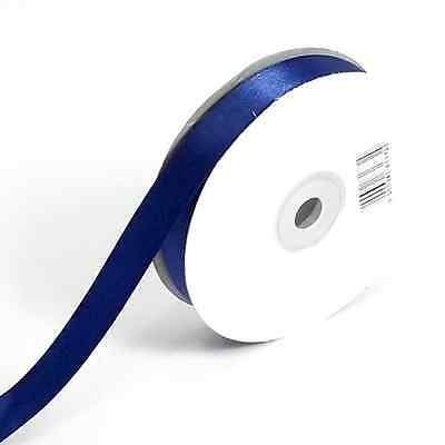 NAVY BLUE DOUBLE FACED SIDED SATIN RIBBON 3mm 10mm or 16mm Wide & 25m / 50m Long