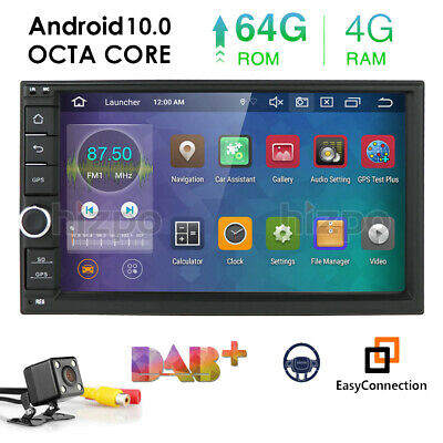 QUAD-CORE Double 2 DIN HD Android 7.1 System Car NO DVD Stereo GPS DAB+ Camera E