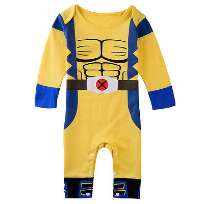 Baby Boy Wolverine Costume Romper Infant Outfit Newborn Halloween Gift Playsuit