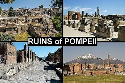 SOUVENIR FRIDGE MAGNET of POMPEII  ITALY