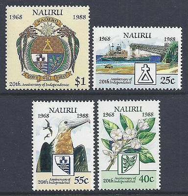 1988 NAURU 20th ANNIVERSARY OF INDEPENDENCE SET OF 4  FINE MINT MUH/MNH