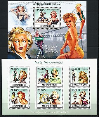 MOZAMBIQUE MOSAMBIK 2009 SET BLOCK MINI SHEET MONROE  MNH MiNr: 3336 - 41 A