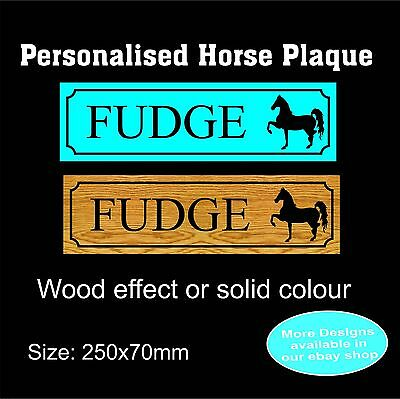 Horse stable door personalised name plaque/sign/plate in Metal