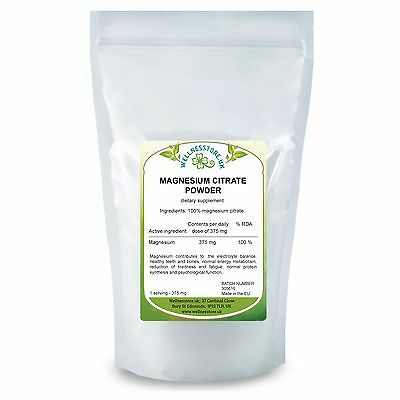 Magnesium Citrate Powder 250g 500g 1kg 100% Pure /cytrynian magnezu  FreeUK P&P
