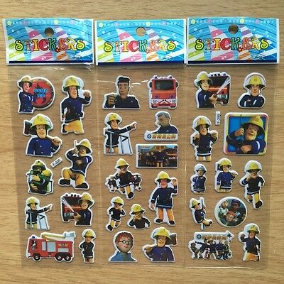 Fireman Sam sticker toys for children party favor lot of 6 sheet(random pattern)