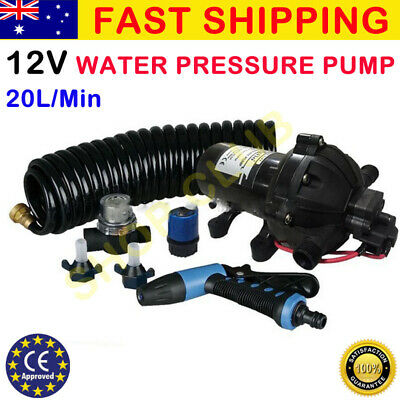 12v Washdown Pump Kit 20L/min 70 PSI Deck Wash Caravan Boat - 1 Year WARRANTY