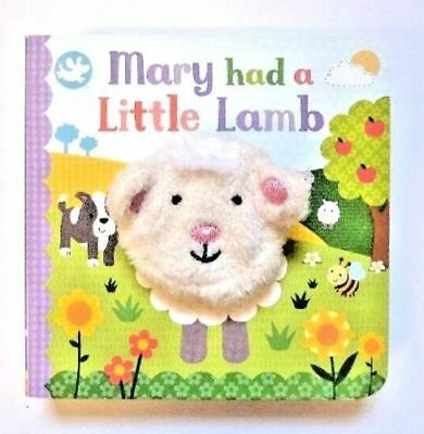 Mary Had A Little Lamb Finger Puppet Book, For Kids Age Babies-4 Year, New, Gift
