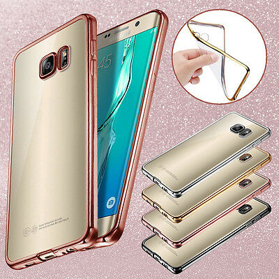 For Samsung Galaxy S7 / S7 Edge ShockProof Silicone Bumper Clear Slim Case Cover
