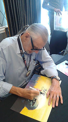 GEORGE ROMERO Signed 11x17 Day of the Dead Bub POSTER Autograph