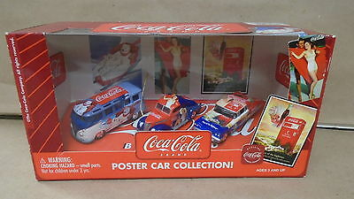 Coca cola poster car collection 1:64 scale set of 3 johnny lightning