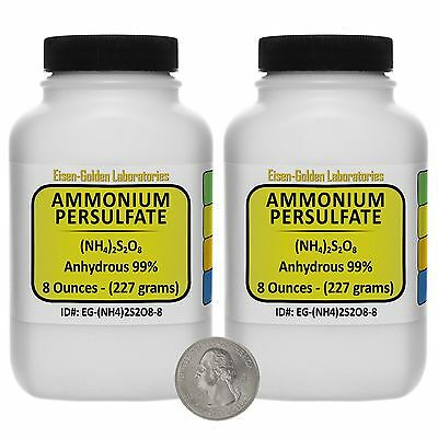 Ammonium Persulfate [(NH4)2S2O8] 99% ACS Grade Powder 1 Lb in Two Bottles USA