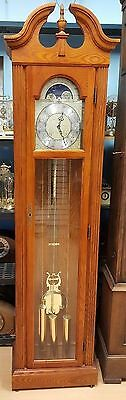 SOLID WOOD CASE GERMAN GRANDFATHER CLOCK 30-50  Years Old