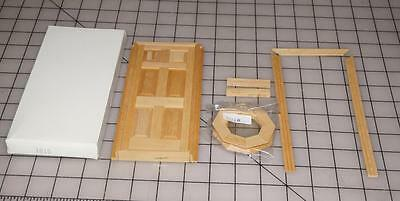 DOLLS HOUSE MINIATURE DELUXE FRONT DOOR DYI New 1:12 Scale