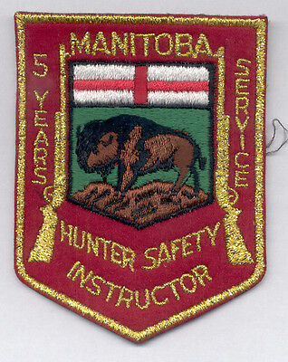 HUNTER SAFETY INSTRUCTOR - Manitoba Canada - Original PATCH / BADGE - Never Used