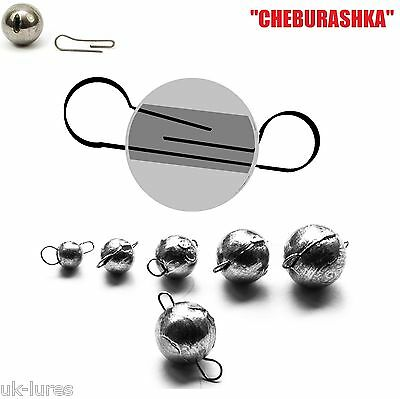 FLEXI JIG HEAD BALL Sinker 5 pcs CHEBURASHKA Dropshot vertical lure fishing