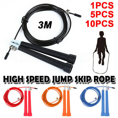 Crossfit Speed Cable Adjustable Speed Wire Cardio Fitness Skipping Rope Jump Gym