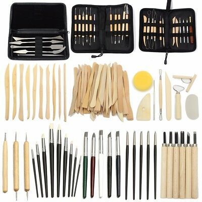 Clay Modeling Cutter Wood Mold Plier Sculpture Carving Craft Pottery Tool Set