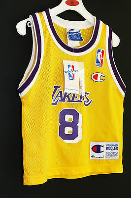 NWT Kobe KB8 Champion Rookie GOLD LAKERS Jersey SZ 2T Infant Baby Authentic NBA