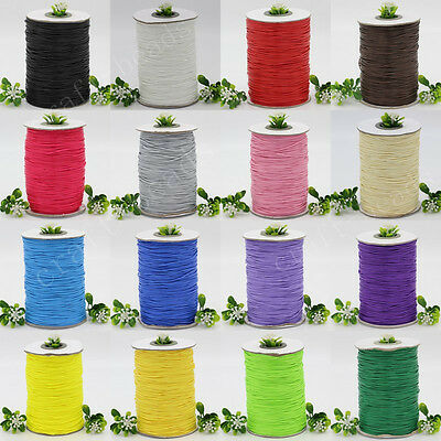 10/200Yards Waxed Cotton Cord Various Colours Lengths Available DIY Rope 1mm C2B