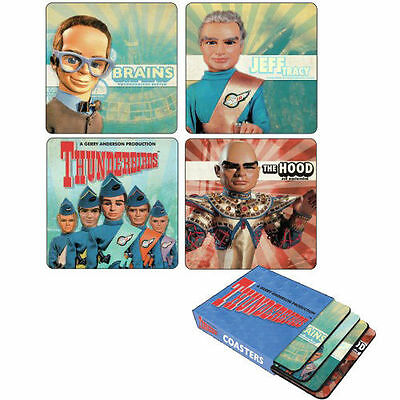 Thunderbirds Drinks Coasters - New Boxed Set Of 4 - Free Uk Delivery